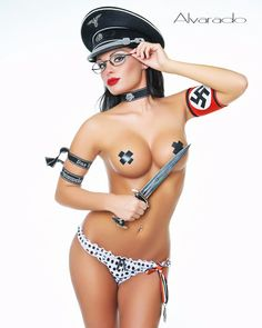Nazi Pin-Up by hihosteverino.deviantart.com on @deviantART