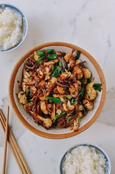 Spicy Cauliflower Stir-Fry (sub coconut aminos and oil for Paleo)