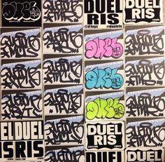 Vinyls and hand done stickers. #duelmci #profreshionalism #vinyl