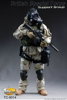 TOYSCITY 1/6 Scale British Special Force Support Group Soldier Figures $105.00