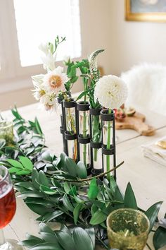 Keep Your Centerpieces Short (or Really Tall!)
