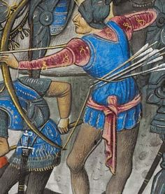 Companie of St Sebastian: Some thoughts on archery equipment Medieval Archer, Medieval Art, St Sebastian, Late Middle Ages, Wars Of The Roses, Archery Equipment, Longbow, Bow Arrows, Medieval Clothing