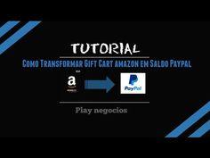2 - Tutorial Como Trocar os Amazon GIFT Cards por Dinheiro no Paypal