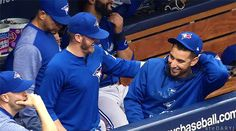 Josh Donaldson pulling pranks on Marco Estrada Josh Donaldson, Tampa Bay Rays, Toronto Blue Jays, Go Blue, Major League, Pranks, Blue Bird, Boyfriend, Fan
