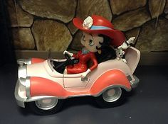BETTY BOOP Sexy Cowgirl n Dogs Pudgy Pink Comic Car