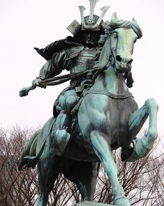 Statue of the great samurai Kusunoki Masashige at the East Garden outside Tokyo Imperial Palace, Japan