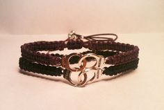 Matching Handcuffs Bracelets Set of 2 You by SimplyEdgyDesigns
