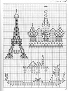 Eiffel Tower in blackwork Motifs Blackwork, Blackwork Cross Stitch, Blackwork Embroidery, Cross Stitch Charts, Cross Stitching, Cross Stitch Embroidery, Embroidery Patterns, Cross Stitch Patterns, Cross Stitch Silhouette