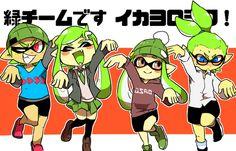 「【スプラトゥーン】緑チームシリーズ④」/「NANA」の漫画 [pixiv] #Inkling