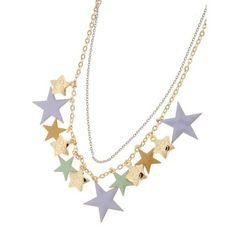 #star #stars #necklace #accessory #gold #silver