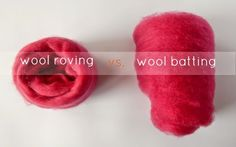 comparing wool roving and wool batting for needle felting      Fiona Duthie: tutorials