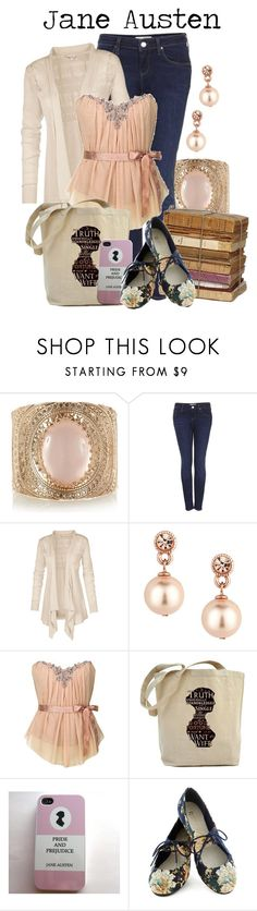 """""""Jane Austen"""" by charlizard ❤ liked on Polyvore featuring Topshop, Fat Face, Jon Richard, Restricted, books and JaneAusten"""