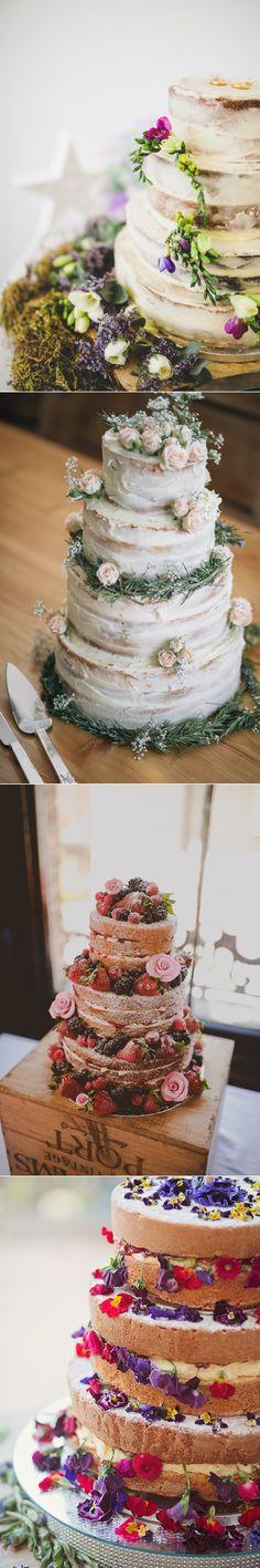 Naked Wedding Cake Ideas Sponge Bare Layer Victoria Berries Inspiration