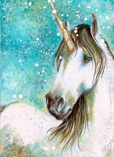 Magical Shine- Unicorn ACEO by BlackAngel-Diana.deviantart.com on @deviantART