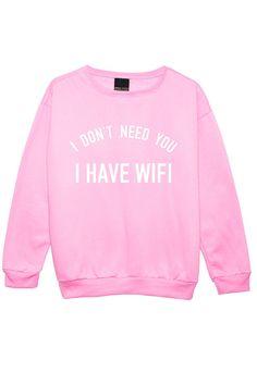 i have wifi SWEATER JUMPER womens ladies funny fun by MLSHOPSS