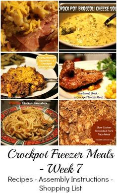 6 Recipes, Shopping List, Assembly Instructions, so that you can make all your meals for the week at once! It's an amazing time saver and a sanity saver, too!