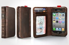 BookBook Leather SmartWallet for iPhone 4/4s by Twelve South