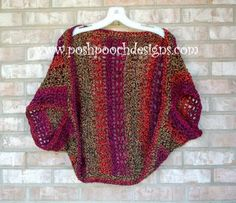 The Perfect Crochet Shrug - great layering piece for  the summer months.