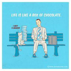 9 vidas más chocolate