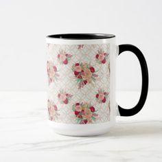 Flowers Pattern Mug - spring wedding diy marriage customize personalize couple idea individuel
