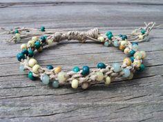 hemp and glass beads