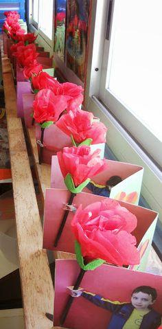 Carte avec rose - Fête des mères