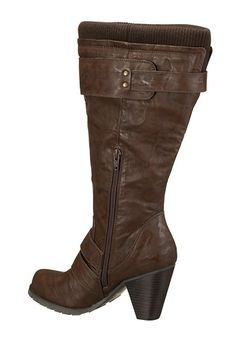 Jordana Super Plus Wide Calf® Boot (Brown) - JJ Footwear Wide Calf ...