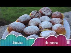 Bombas rellenas de crema - YouTube