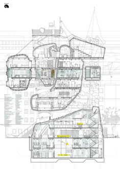 See submissions See students' projects · · · · · · · · · · Ba Architecture, Architecture Graphics, Architecture Portfolio, Architecture Drawings, Rendering Drawing, Technical Drawing, Sci Arc, Section Drawing, Nature Sauvage