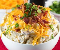 Loaded Baked Potato Salad - perfect side for summer pot lucks and picnics!