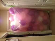Birthday morning surprise.  Isaak would so mess this up, since he's the first one awake :) but like the idea!