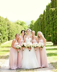 Love These Pale Pink Bridesmaids Gonna Use This Color Scheme In