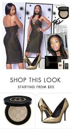 """COUTURE LUV"" by gaby-mil ❤ liked on Polyvore featuring Gucci, Pierre Balmain, dress and coutureluv"