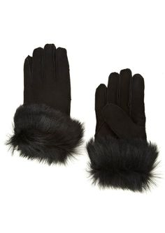 On ideel: SURELL Shearling Gloves with Toscana Sheepskin Trim