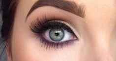 Eye makeup for round eyes