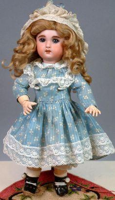 """11"""" Jumeau 1907 Size 2 Bebe with Original Blue Sleep Eyes--Adorable from kathylibratysantiques on Ruby Lane"""