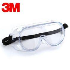 118f488314 3 M 1621 gafas de polvo químicas gafas de trabajo de seguridad Anti-ácido  gafas de seguridad Anti