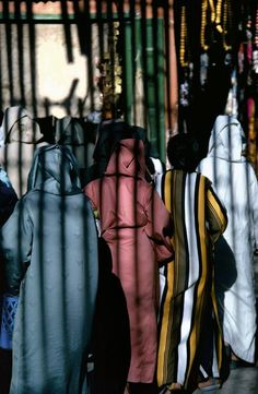Morocco, Marrakech. The Souk. 1987. by Bruno Barbey