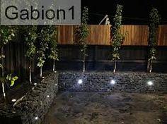 """Résultat de recherche d'images pour """"gabion lighting"""" Gabion Retaining Wall, Gabion Baskets, Backyard Landscaping, Landscaping Design, Backyard Ideas, Backyard Paradise, Garden Landscape Design, Fence Design, Garden Beds"""