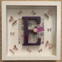Initial Box Frames by NialliDesigns on Etsy