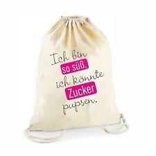 Turnbeutel Hipster Rucksack Beutel Gym-Bag Sportbeutel mit Spruch Gymbag Gymsack