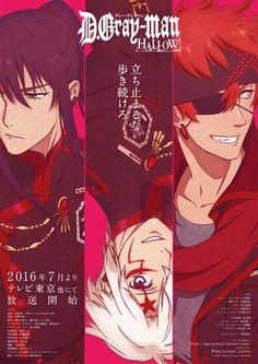 El Anime D.Gray-man Hallow anunciado con 13 episodios.