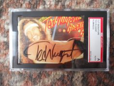 TED NUGENT - SIGNED/AUTOGRAPHED SGC