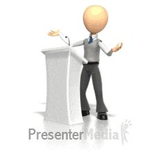 ID# 3109 - Podium Speech - PowerPoint Animation Animated Clipart, Powerpoint Animation, Text Background, Stick Art, Stick Figures, Saints, Presentation, Clip Art, 3d
