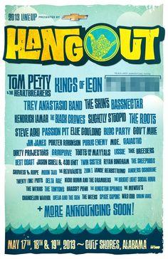 2013 Hangout #Music #Festival #Lineup   May 17-19   The Hangout   Gulf Shores, Alabama