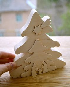 Wooden Puzzle Wood Nativity Scene Busy Toddler Toy Wooden Toy Puzzle Montessori Toy Christmas G Christmas Puzzle, Christmas Wood Crafts, Christmas Nativity, Christmas Projects, Christmas Tree Decorations, Christmas Crafts, Christmas Ornaments, Montessori Toys, Wooden Puzzles