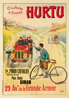 Vintage Advertising Posters, Vintage Advertisements, Vintage Posters, Bike Poster, Poster Ads, Paris France, Bicycle Brands, Bicycle Race, Cycling Art