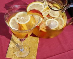 White Sangria with Nectarines, Plums, & Lemons www.thekitchenismyplayground.com