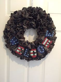Camouflage Wreath military Wreath Army by MOSTaDOORableWREATHS