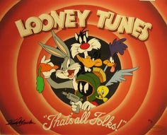 Bugs Bunny Animation Art: That's All Folks! : Limited Edition Hand-Painted Cel from Warner Brothers. Ps Wallpaper, Orange Wallpaper, Aesthetic Iphone Wallpaper, Vintage Cartoons, Old Cartoons, Classic Cartoons, Halloween Wallpaper Iphone, Cartoon Wallpaper Iphone, Cartoon Posters